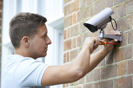 Installing security camera to house wall